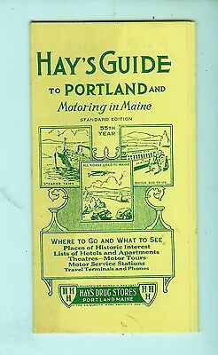 "1946 ""Hay's Guide to Portland, ME"" small foldout tourist brochure"