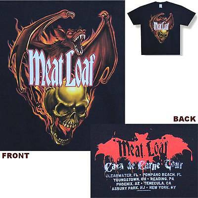 Meat Loaf! Bat Skull 08 Tour Black T-Shirt Small New!
