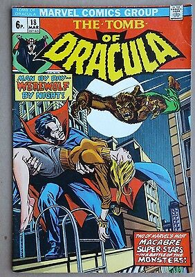 Marvel Comics - Tomb of Dracula # 18, March 1974. Very good condition.