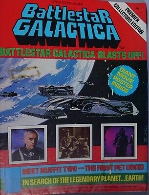 Vintage Battlestar Galactica Official Poster Magazine #1 Collectors Edition 1978