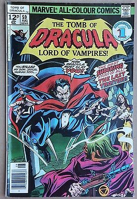 Marvel Comics - Tomb of Dracula # 59, August 1977. Very good condition.