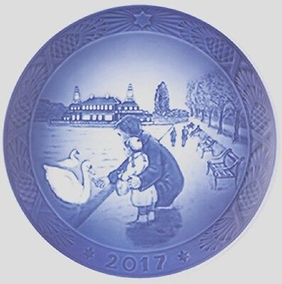 ROYAL COPENHAGEN 2017 Christmas Plate New in Box – By the Lakes - Just Released!