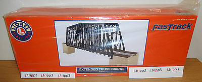 Lionel 82110 Fastrack Extended Truss Bridge O Gauge Scale Train Layout Accessory