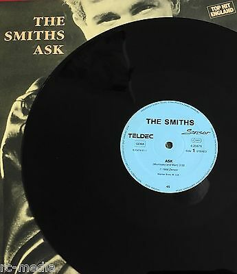 """THE SMITHS - Ask - Rare German BLACK Vinyl 12"""" + Different Picture Sleeve to UK"""