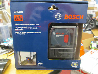 Bosch GPL 2 R 2-Point Self-Leveling Plumb Laser NEW