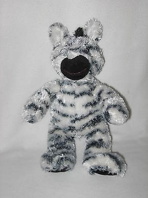 "Plush Zebra Princess Soft Toys Stuffed Animal Toy Lovey 11"" Black White 2009"