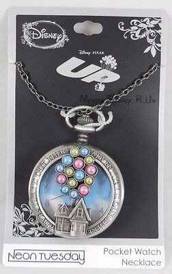 New Disney Up Carl House Balloons Pocket Watch Necklace Adventure Is Out There