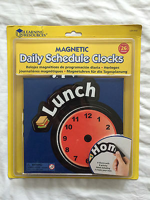 Learning Resources Magnetic Daily Schedule Clocks Visual Timetable Sen Teaching