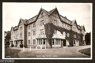 Postcard Nairn Highland Scotland moray firth RP Golf View Hotel
