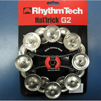 Drums Sets Rhythm Tech Hat Trick Tambourine G2 for hi-hat stand RT7422 Nickel