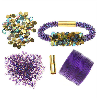Refill - Deluxe Beaded Kumihimo Bracelet (Purple) -  Beadaholique Jewelry Kit