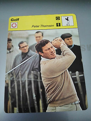 GOLF - Peter THOMSON - Sportscaster Rencontre Photo Fact Card