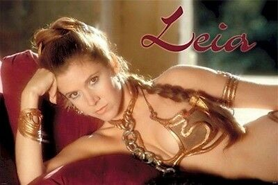 SLAVE LEIA 27x40 ~ RETURN OF THE JEDI Carrie Fisher Star Wars Episode VI