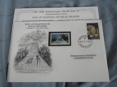Wwii 50Th Anniv Commemorative First Day Cover End Of Fighting Palau Islands