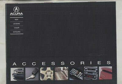 1992 Acura NSX Legend Vigor Integra Accessories Brochure ww4529