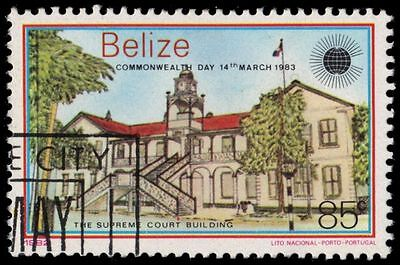 """BELIZE 670 (SG733) - Commonwealth Day """"Supreme Court Building"""" (pa54982)"""