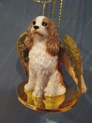 Cavalier King Brown White  ~ Angel Ornament  #dta  80A