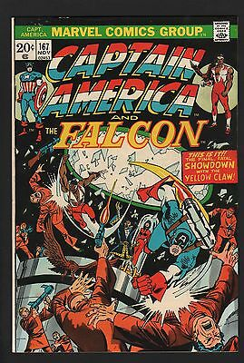Captain America #167 F/VF 7.0 Off White Pages