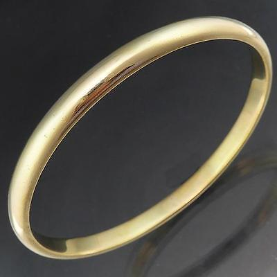 Most Substantial & Very HEAVY ROUND 9ct SOLID YELLOW GOLD BANGLE bracelet estate