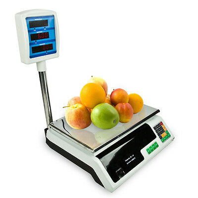 Digital Scale 60lb Food Platform Display Tower Produce Deli Market Commercial