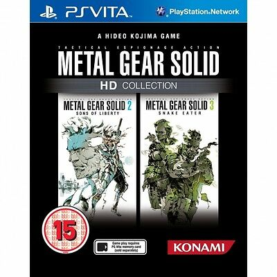 Metal Gear Solid HD Collection Game PS Vita Brand New
