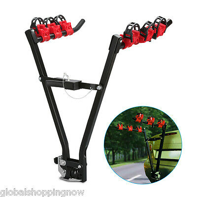 """Universal Bicycle Rack 3 Bike Carrier Tow Ball Mounted 2"""" Tow bar Car Rear AU"""
