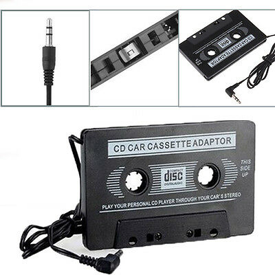 Car Audio Tape Cassette To Jack AUX For iPod MP3 iPhone Phone Converter Adapter