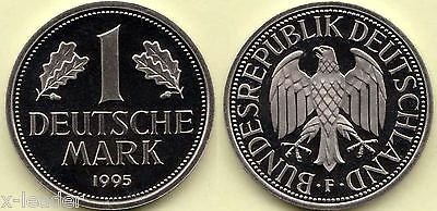 1995 F * 1 Deutsche Mark, Polierte Platte, proof, Originalbild #