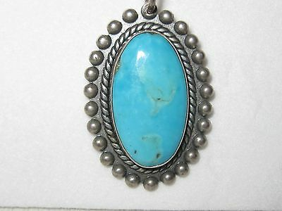 Vintage Sterling Silver Trading Post Turquoise Necklace  BE167