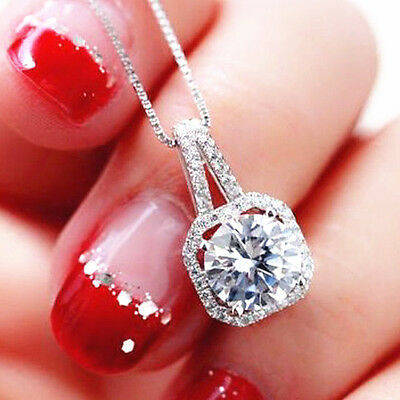 Chunky Charm Fashion Jewelry Crystal Pendant Chain Statement Choker Necklace