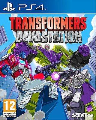 Transformers Devastation Videogame For Sony PS4 Games Console SEaed NEw Uk