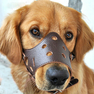 Pet Dog Easily Adjustable Mask Anti-Bark Bite Mesh Soft Mouth Muzzle Grooming CH