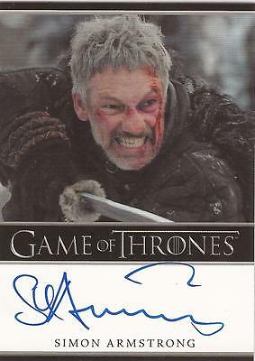 "Game of Thrones Season 2 - Simon Armstrong ""Qhorin Halfhand"" Autograph Card"