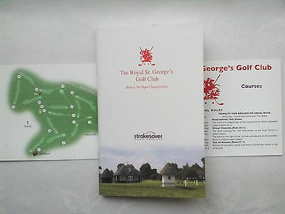 The Royal St.george's,ramsgate,pegwell Golf Course Guide + Score Card.2011.new