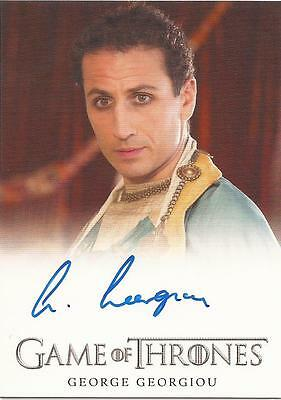 "Game of Thrones Season 3 - George Georgiou ""Radzal Mo Eraz"" Autograph Card"