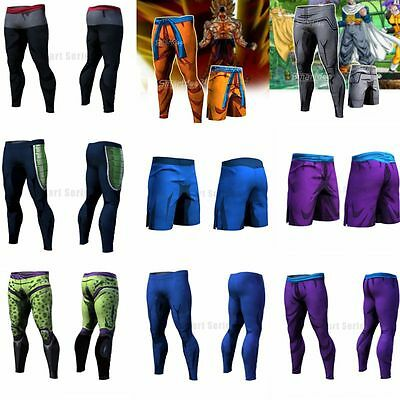 Hot Dragon Ball Z Son Goku Vegeta Gym Sport Trainning Long Pant Bicycle Trousers