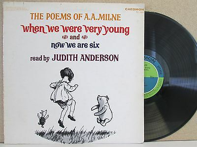 POEMS OF A.A. MILNE- When We Were Very Young/Now We Are Six LP (WINNIE THE POOH)