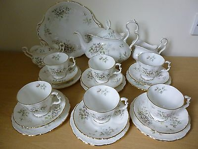 Royal Albert Haworth Tea Set - inc Tea Pot - 1st Quality