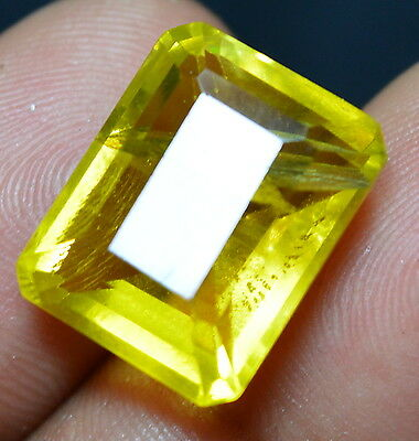 16.05 CT 100% Natural Heliodor Yellow Color GGL Certified Emerald Shape Gemstone