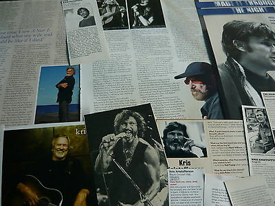 Kris Kristofferson - Magazine Cuttings Collection (Ref Xd)