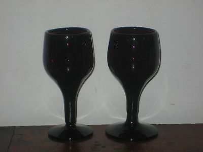 Pair Of English Amethyst Colour Glasses Circ 1870S To 1920S