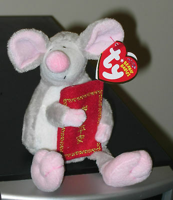Ty Beanie Baby ~ 2008 ZODIAC RAT (Year of the Rat)(Asia Exclusive) MWMT