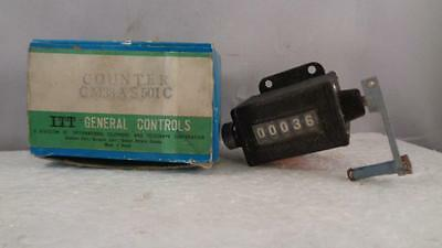 ITT General Controls Mechanical Counter CM33AS501C Vintage In Box