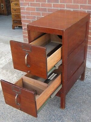 Edwardian antique Art Deco style mahogany filing cabinet chest of 2 drawers
