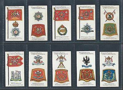 Players Badges & Flags Of British Regiments Green Full Set In Sleeves Very Good