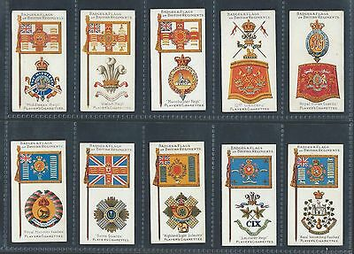 Players Badges & Flags British Regiments Brown  Numbered Full Set In Sleeves Vg+