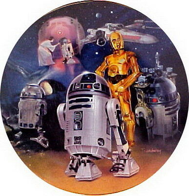 Vintage Star Wars Heroes & Villains Ceramic Collector Plate- R2-D2 Montage