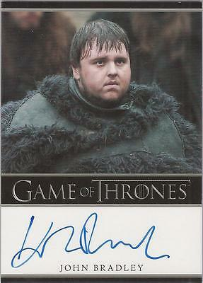 "Game of Thrones Season 1 - John Bradley ""Samwell Tarly"" Autograph Card"