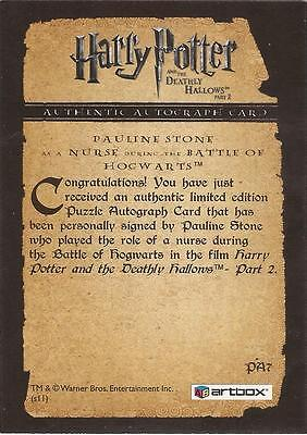 """Harry Potter Deathly Hallows 2 PA8 Adrian Rawlins """"James Potter"""" Autograph Card"""