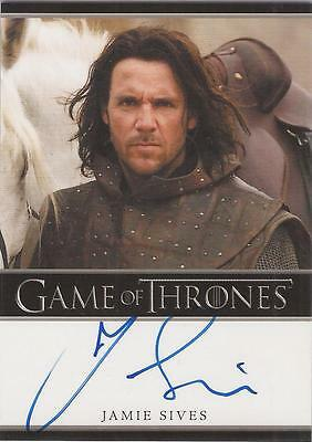 "Game of Thrones Season 1 - Jamie Sives ""Jory Cassel"" Autograph Card"